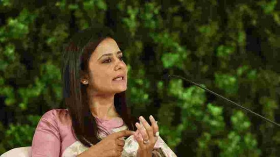 Trinamool Congress MP Mahua Moitra accused the BJP of violating all sanctity of a secular government. (Sanjeev Verma/HT PHOTO)