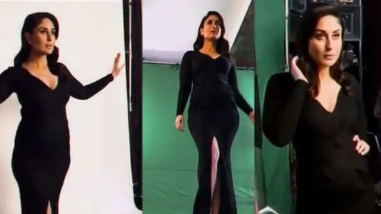 Kareena Kapoor is all about style and glamour in an all-black photo shoot. Watch - Hindustan Times