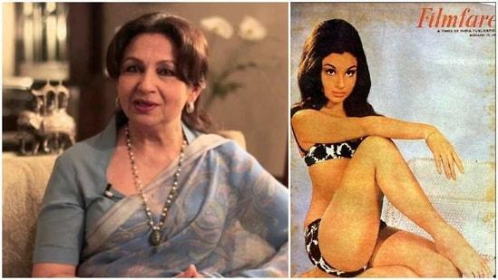 Sharmila Tagore posed in a bikini for Filmfare magazine's cover in 1966.