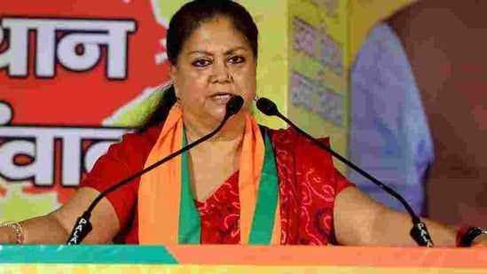 Former Rajasthan chief minister Vasundhara Raje is one of the 12 members of the core group.(PTI)