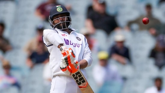 India's Ravindra Jadeja avoids a bouncer during play on day three of the second cricket test between India and Australia at the Melbourne Cricket Ground.(AP)