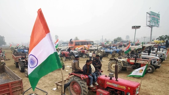 The tractor rally has been allowed to set off after Republic Day celebrations end in the afternoon, officers said on Sunday.(ANI Photo)