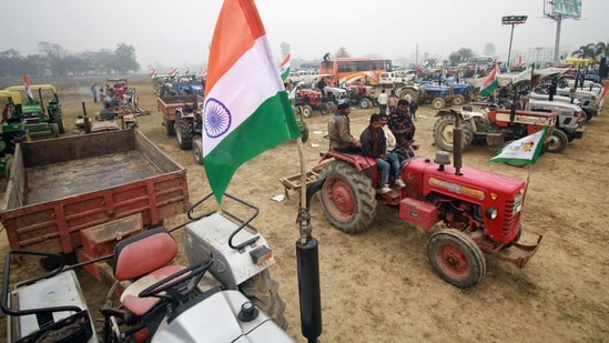 All eyes are on the tractor march of the farmers on January 26 as it has already been subject to many controversies.(ANI)
