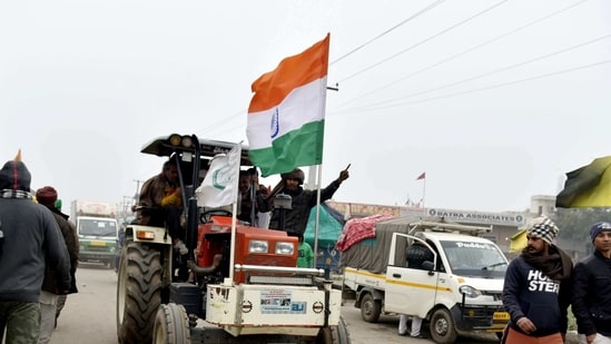 While the police pegged the number of tractors at around 30,000, farm leaders said there would be about 250,000 tractors entering Delhi from the three border points.(ANI Photo)