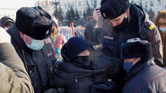 Police detained more than 2,131 people, including 795 in Moscow, the OVD-Info monitoring group reported. Among those detained were Navalny's wife Yulia Navalnaya, who was later released, and his prominent aide Lyubov Sobol.(AP)