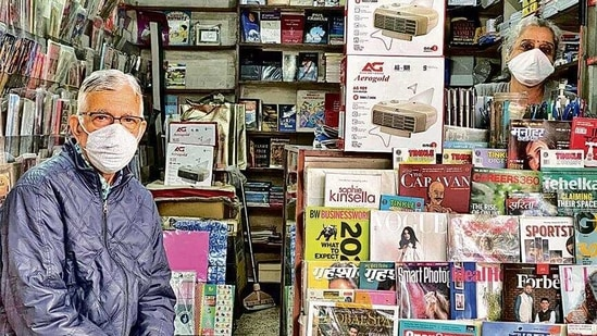 """The store has been in South Delhi's SDA Market since the 1980s, """"but he laid its foundation 50 years ago,"""" the lady says, talking of her husband."""