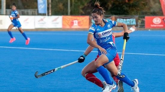 Indian women's junior hockey team beat Chile.(Hockey India/Twitter)