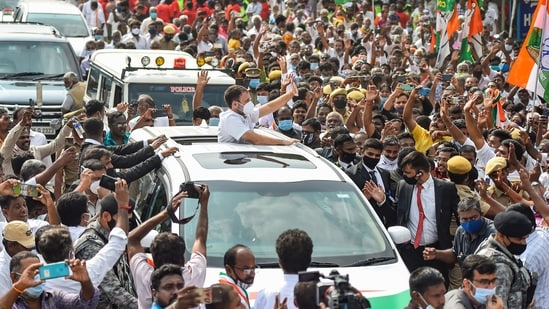 """Demonetisation, Goods and Services Tax (GST), and the response to Coronavirus has severely damaged the people of this state"", Rahul Gandhi said.(PTI)"