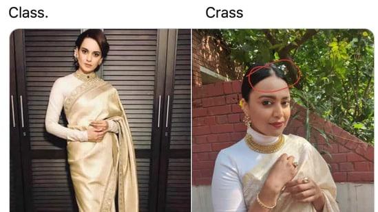 Kangana Ranaut has retweeted a mean post about Swara Bhasker.