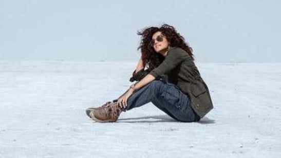 Taapsee Pannu has been shooting for Rashmi Rocket in Bhuj.