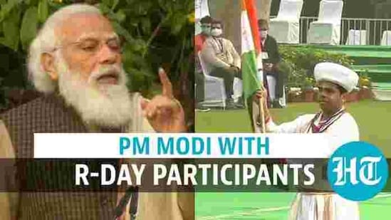 PM Modi interacted with participants of 2021 Republic Day parade (ANI/DD)