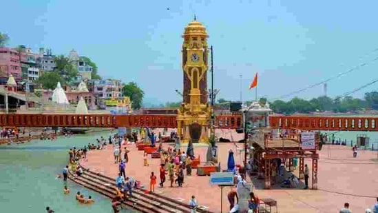 Mahakumbh prep is also ushering in development, infrastructural projects, amenities and facilities to Haridwar.(HT Photo)