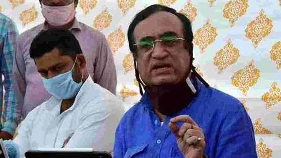 While addressing a press conference here, Congress General Secretary Ajay Maken alleged that excise duty on diesel has been hiked by 820 per cent and 258 per cent on petrol in the last six years.(ANI)