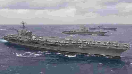 US aircraft carrier group enters South China Sea amid Taiwan tensions - Hindustan Times