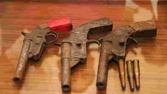 Police say use of illegal firearms in criminal cases are common because of their easy availability.(HT File Photo)