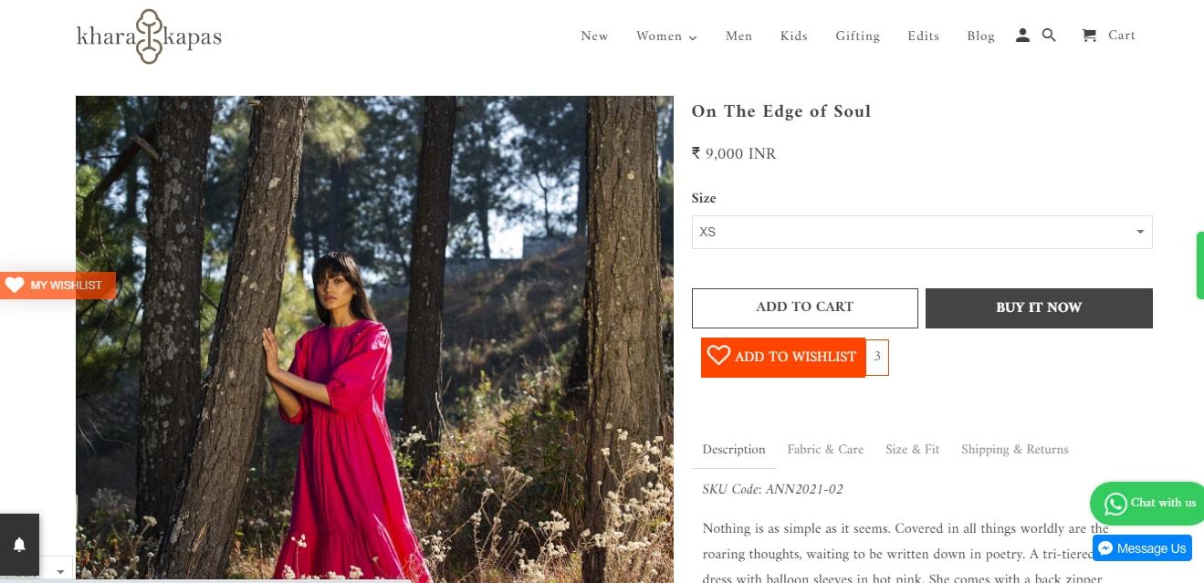 Kirti Kulharis midi dress from Khara Kapas (kharakapas.com)