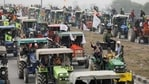 Farmers participate in a tractor rally to protest against the newly passed farm laws at Singhu border near New Delhi. (Reuters File Photo )