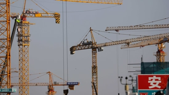 Cranes are seen at a construction site in Beijing, China.(Reuters File Photo)