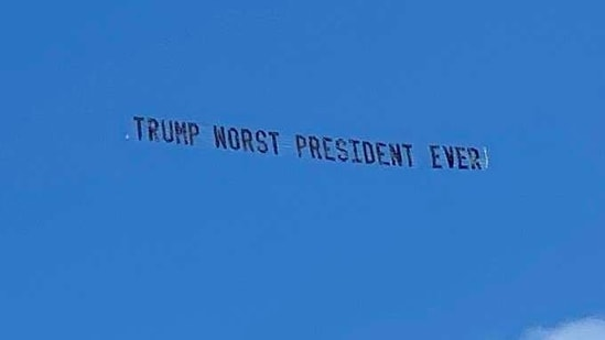 Donald Trump did not attend President Joe Biden's inauguration in the US Capitol.(Twitter / @DWUhlfelderLaw)