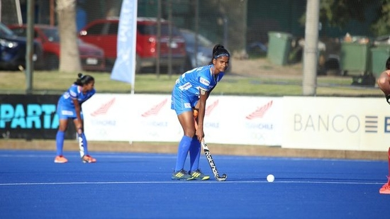 Indian women's junior hockey team pips Chile senior side 2-1(Hockey India / Twitter)