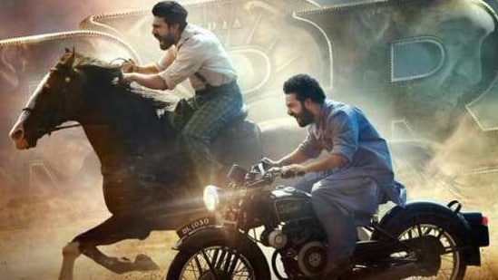 Ram Charan and Jr NTR in a new poster for RRR.