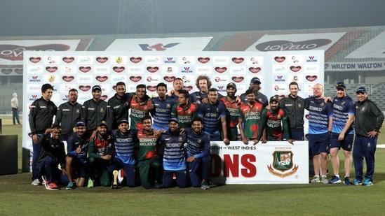 Bangladesh beat West Indies by 120-run in 3rd ODI(Bangladesh Cricket/ Twitter)