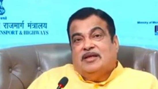 """""""Steel prices have increased by 65 per cent in the last six months,"""" Gadkari said adding that the steel and cement rates will reduce once cheaper alternatives are available.(HT Photo)"""