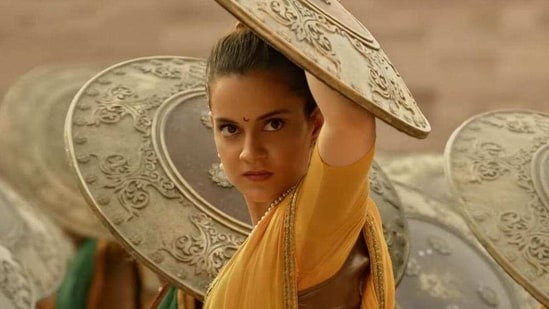 Kangana Ranaut in Manikarnika: The Queen of Jhansi.
