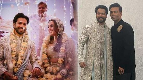 Karan Johar attended Varun Dhawan and Natasha Dalal's wedding on Sunday.