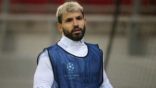 File photo of Manchester City striker Sergio Aguero(REUTERS)