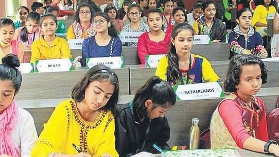 Over 200 students from Classes 6 to 12 participated in the conference with enthusiasm.