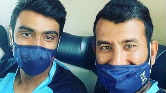Indian off-spinner Ravichandran Ashwin along with batsman Cheteshwar Pujara(R Ashwin/ Instagram)