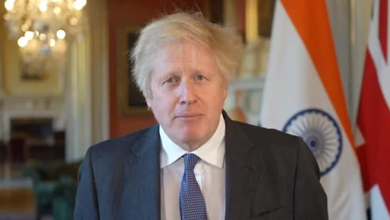"""Let me wish everyone in India, as well as those celebrating here in Britain, a very Happy Republic Day,"" PM Johnson had said.(Screenshot. Twitter/@UKinIndia)"
