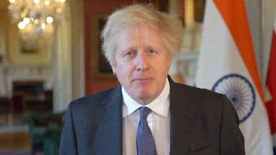 """""""Let me wish everyone in India, as well as those celebrating here in Britain, a very Happy Republic Day,"""" PM Johnson said.(Screenshot. Twitter/@UKinIndia)"""