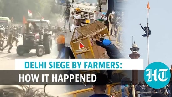 A timeline of chaotic events during farmers' tractor rally in the national capital (Agencies)