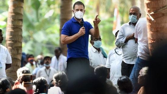 Congress leader Rahul Gandhi during his recent visit to Tamil Nadu. (PTI Photo)