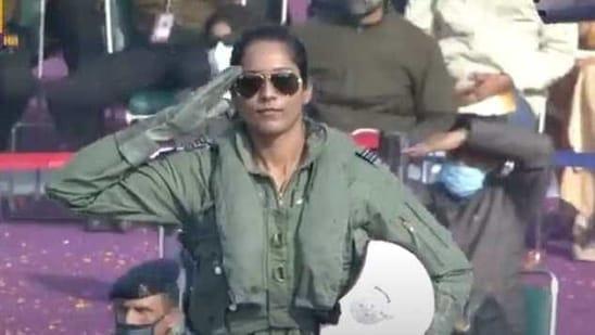 Flight lieutenant Bhawana Kanth(Screengrab/DD live )