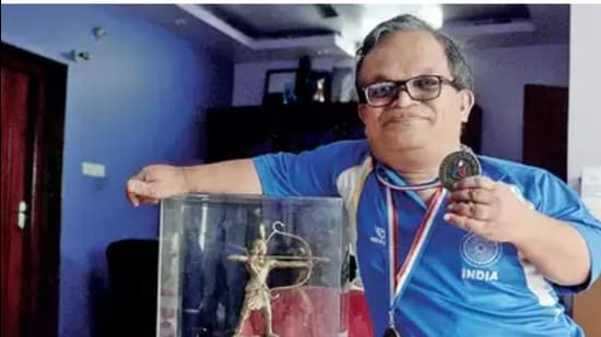 KY Venkatesh with his trophies and medals. (Sourced)