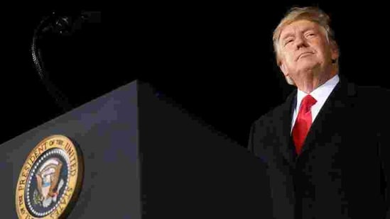 A file photo of former US President Donald Trump at a campaign rally in Dalton, Georgia, US(Reuters File Photo )