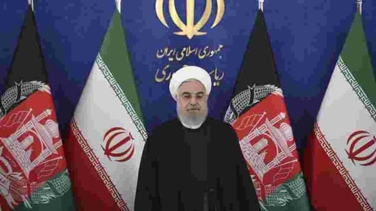 President Hassan Rouhani said on Saturday that vaccinations would begin in the coming weeks(AP)