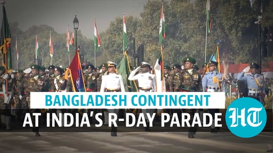 The marching contingent & band of Bangladesh Army participated in India's Republic Day