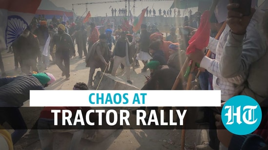 Chaos at tractor rally