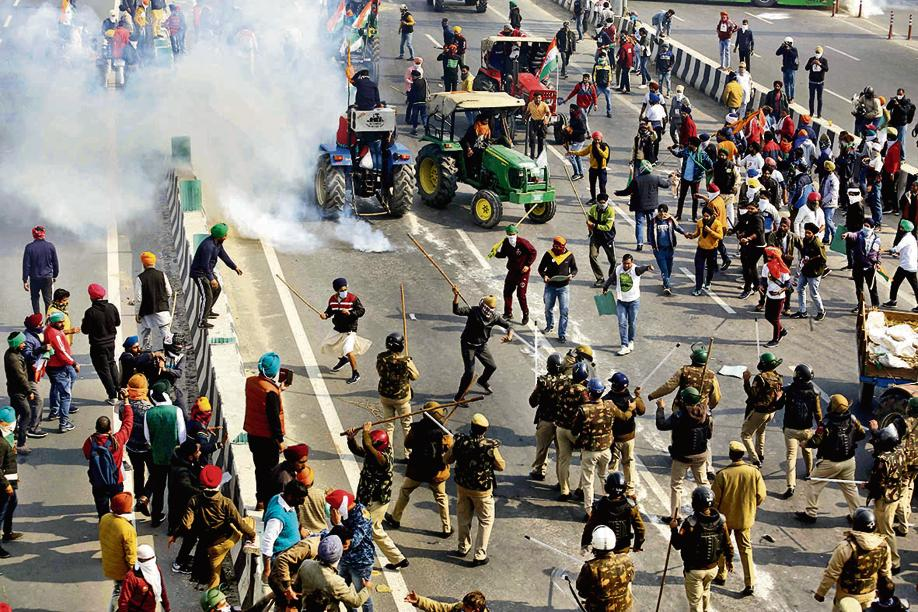 Image result for tractor rally violence