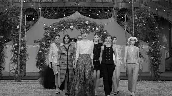 With France under Covid-19 restrictions, the label, like others, shared a video online on Tuesday of its show to fashionistas at a time when traditional catwalk presentations, usually packed with editors, buyers and influencers, are not possible.(YouTube)