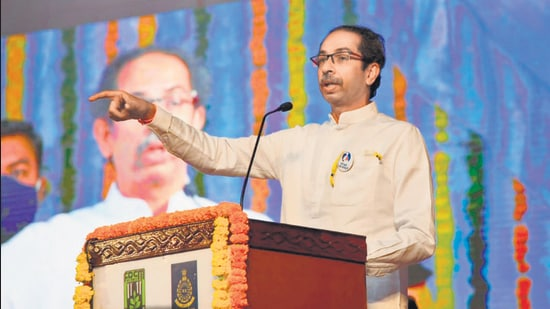 Chief minister Uddhav Thackeray at the inauguration of a zoological park in Nagpur on Tuesday. (CMO)