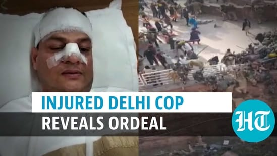 An injured Delhi cop recounted his ordeal at Red Fort (ANI)