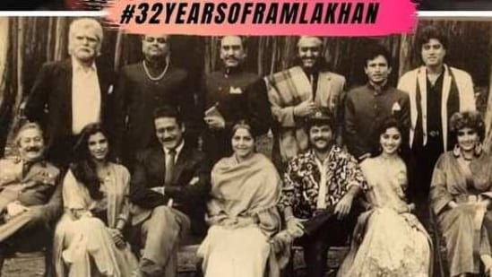 Madhuri Dixit celebrated the completion of 32 years of Ram Lakhan.