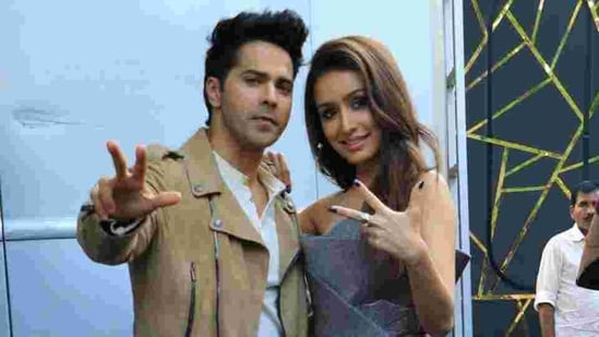 Varun Dhawan and Shraddha Kapoor promoting their film Street Dancer 3D.(Varinder Chawla)