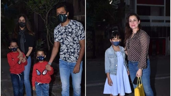 Riteish Deshmukh arrives with wife Genelia and sons, Neelam Kothari Soni poses with daughter Ahana at Ravie Kapoor's second birthday party. (Varinder Chawla)