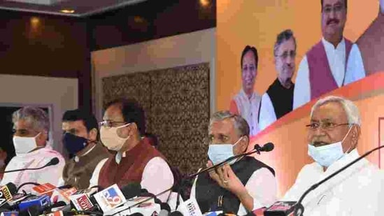 Differences between NDA allies on the formula to be used for division of Bihar Legislative Council seats has been a major stumbling block, claim leaders.(Santosh Kumar/HT Photo/FIle/Representational)